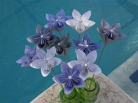 flower stem origami fairyland paper flowers with stem origami kusudama