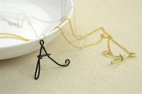 easy jewelry ideas easy jewelry ideas wire wrapped initial necklaces