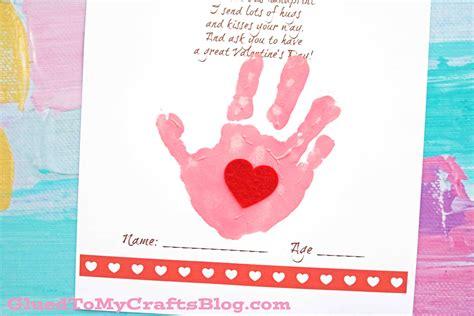 handprint crafts for handprint poem keepsake printable glued to my