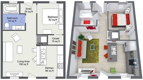 real floor plans blue sketch custom 3d floor plans for real estate