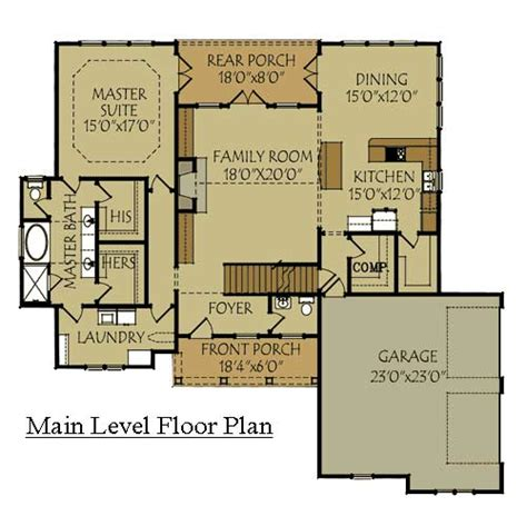Craftsman Style Homes Floor Plans craftsman style home design