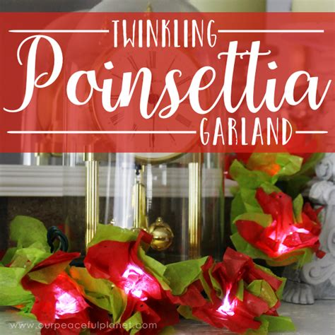 how to make lights twinkle how to make poinsettia lights using twinkle lights