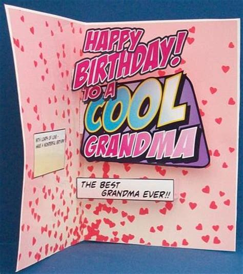 how to make a birthday card for grandmother cool pop up birthday card cup452178 1532