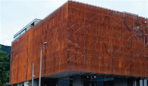 chapas de acero corten fachada en acero corten disfachadas