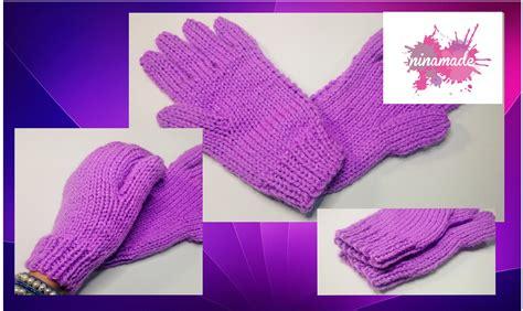 diy comment tricoter des gants avec deux aiguilles