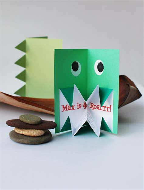 how to make amazing pop up cards make amazing pop up origami dinosaur invitations