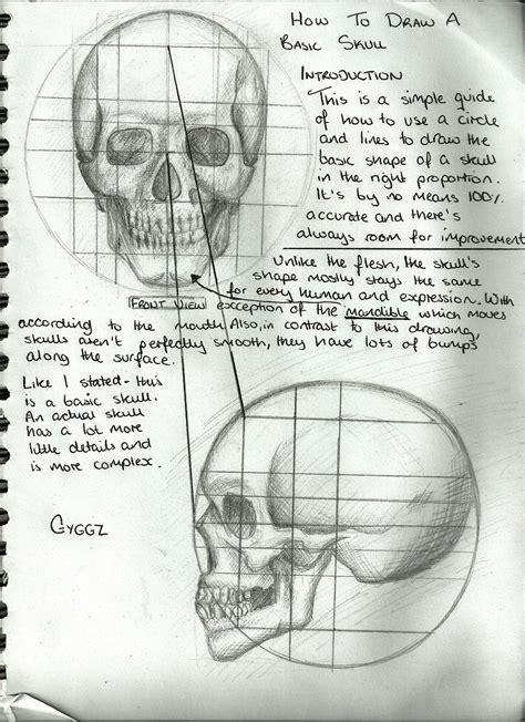 tutorial skull drawing a skull tutorial by gyggzychan on deviantart