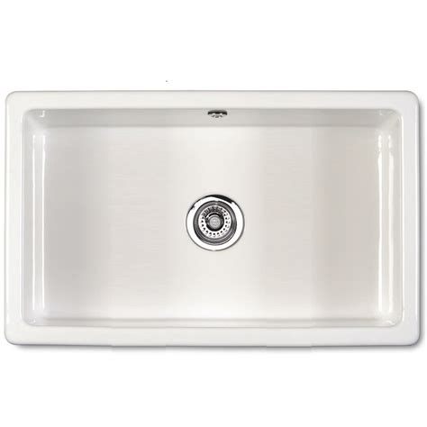 inset ceramic kitchen sinks shaws of darwen classic inset 760 inset or mount