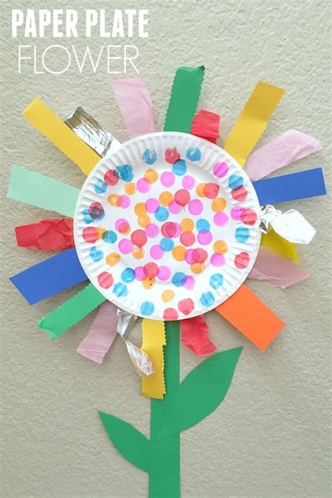 paper plate crafts for summer paper plate flower motor craft this weekend