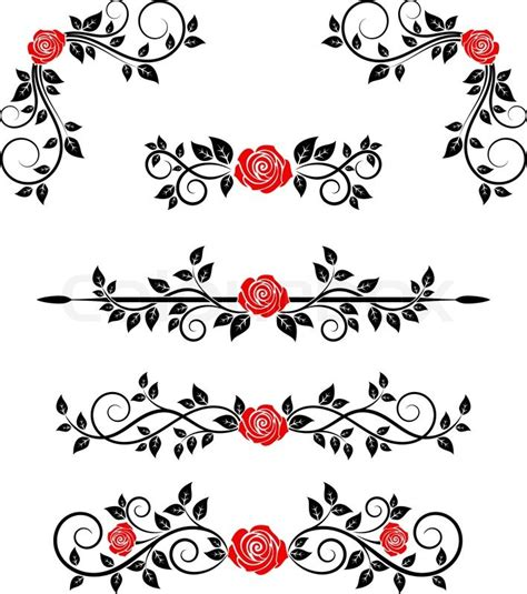 Victorian Style Home Plans roses with floral embellishments and borders for design