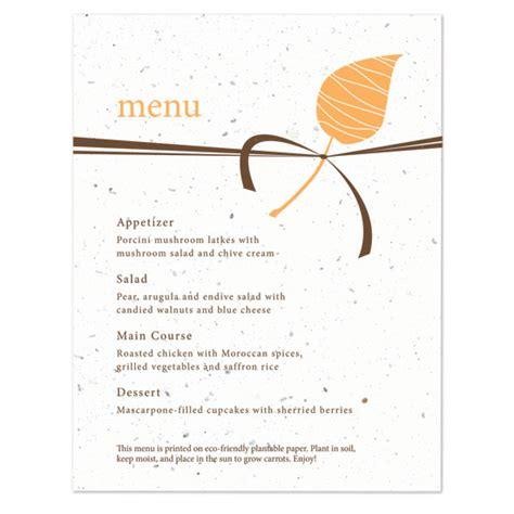 how to make menu card embrace plantable menu card plantable seed wedding menu