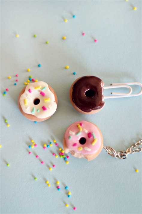 how to make clay for crafts how to make a polymer clay doughnut charm or ring ehow