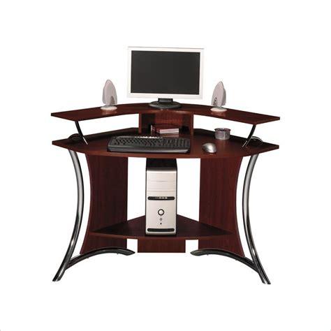 corner cherry desk bush tacoma corner wood harvest cherry computer desk ebay