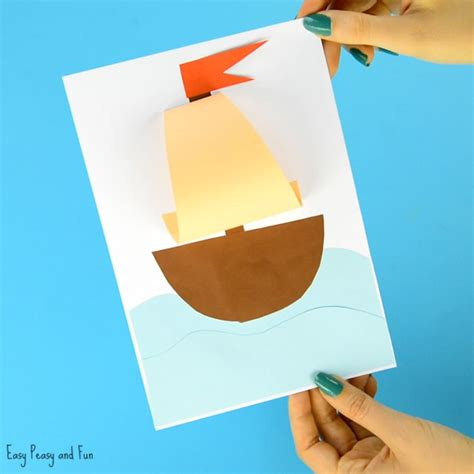 summer paper crafts for simple paper boat craft easy peasy and