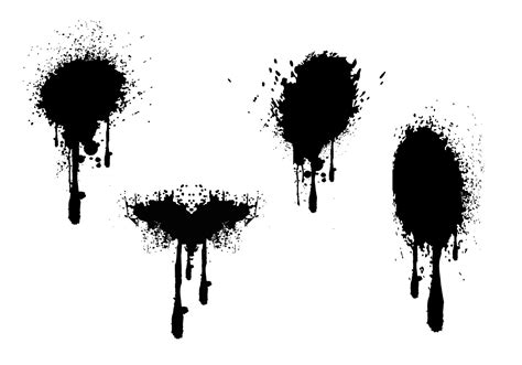 spray paint vector brush spray paint drips grunge vectors free vector