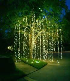 hanging tree lights top 46 outdoor lighting ideas illuminate the