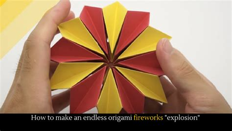 how to make origami fireworks how to make an endless origami fireworks quot explosion