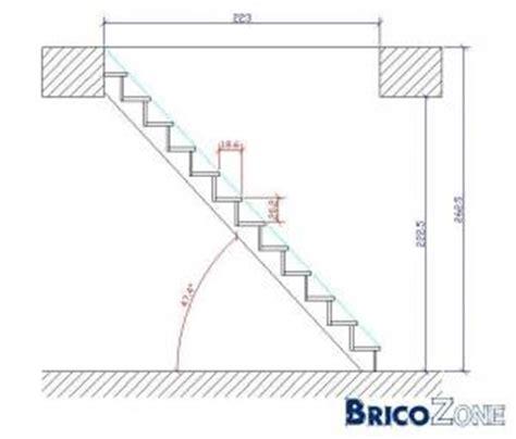 comment calculer l angle d un escalier