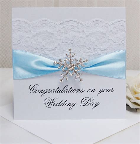 how to make a congratulations card personalised snowflake wedding congratulations card by