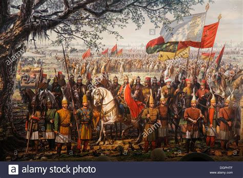 ottomans conquered constantinople painting of the