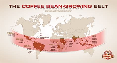 CoffeeForLess.com Learning Center   Coffee Articles   The Coffee Bean Growing Belt