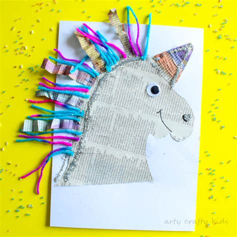 arts and craft projects for mixed media paper unicorn craft arty crafty