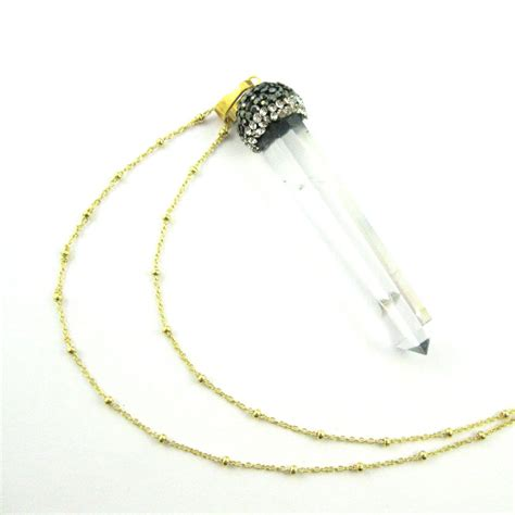 silver beaded necklace pave necklace gold plated sterling silver beaded