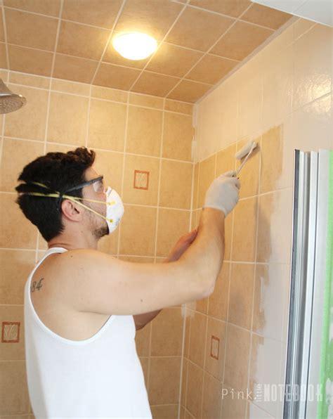 spray paint tiles bathroom yes you really can paint tiles rust oleum tile