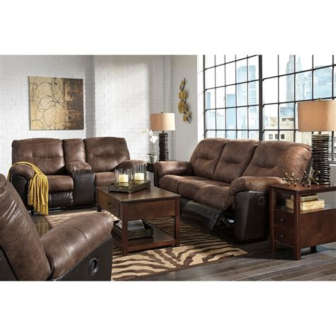 two tone reclining sofa two tone faux leather reclining sofa by signature design