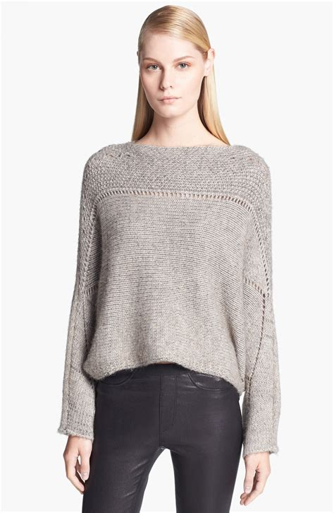knit sweater womens helmut lang novelty knit poncho sweater for faeaa