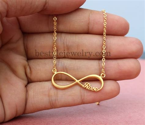 gift necklace jewels gift ideas unique gifts infinity necklace name