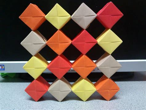 how to make moving origami origami moving cubes grid formation by