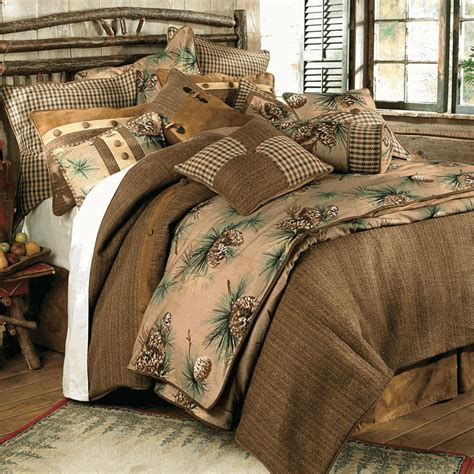 rustic cabin bedding sets rustic bedding crestwood pinecone bedding collection