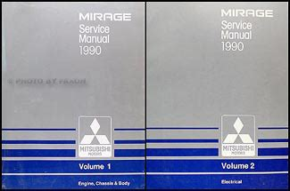 1989 mitsubishi mirage repair shop manual set original 1990 mitsubishi mirage repair shop manual set original