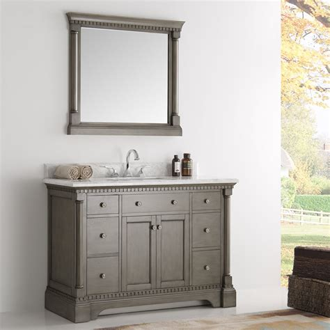 49 inch bathroom vanity 49 inch traditional coffee bathroom vanity with mirror and