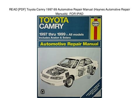 download car manuals pdf free 1992 toyota camry interior lighting service manual car repair manual download 2007 toyota solara instrument cluster removing