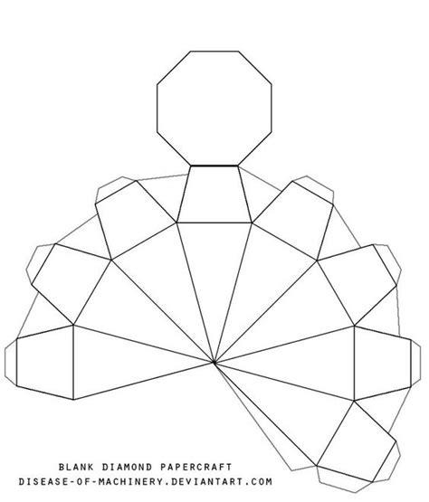 printable origami templates 3d paper diamonds template printable blank