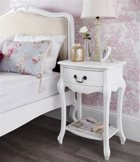 chabby chic bedroom furniture shabby chic white 1 drawer bedside table bedroom