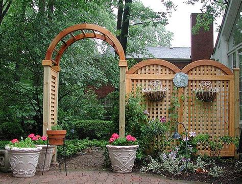 Garden Arch Arbour Arched Arbor With Moon Gate And Trellis Fence