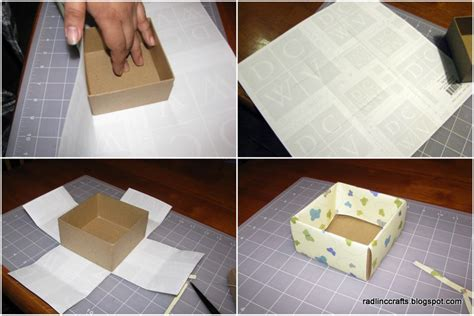 decoupage cardboard boxes rad linc crafts decoupage box