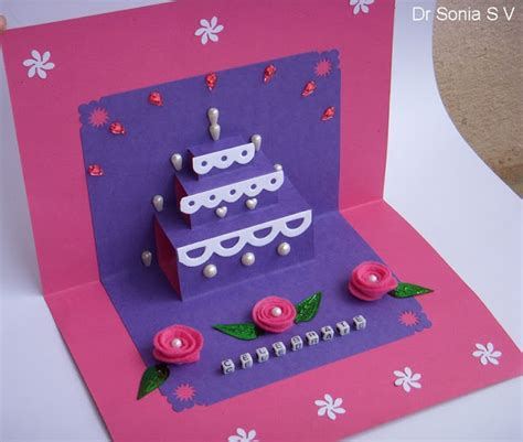 how to make pop up cake card cards crafts projects simple pop up cake card tutorial