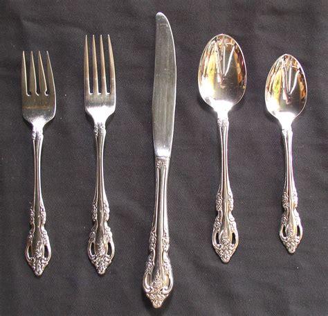 silverware rubber st oneida community brahms stainless flatware set 59 pcs