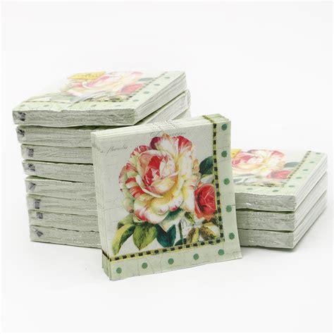 patterned tissue paper decoupage cypress 20pcs 25x25cm 3 ply decoupage napkins tulip paper
