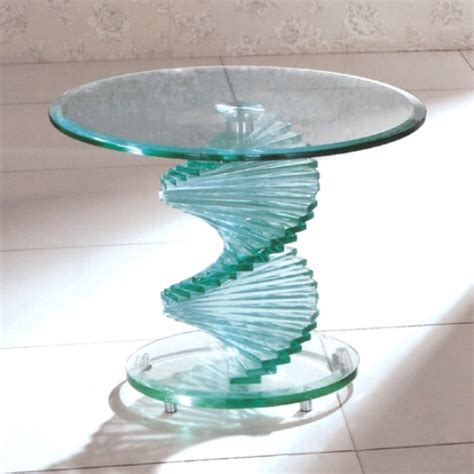 glass table glass bedside table