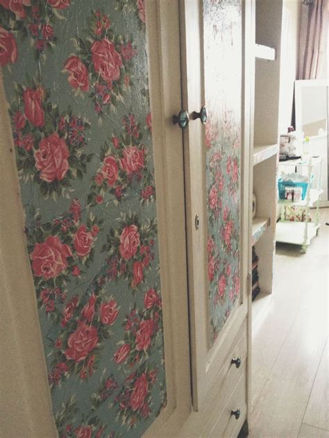 decoupage wardrobe pin by lossing on shabby chic