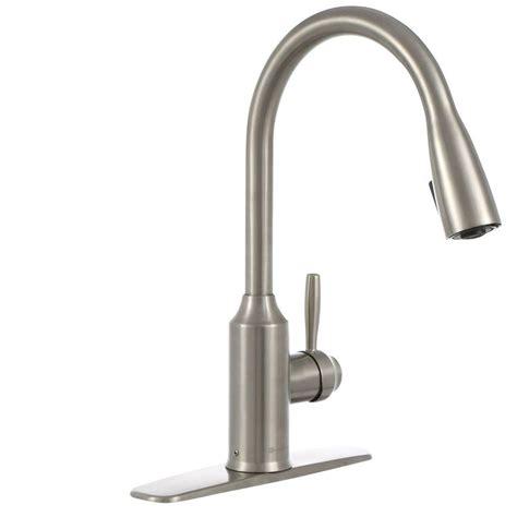 glacier kitchen faucet glacier bay invee single handle pull sprayer kitchen