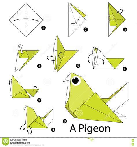 origami pigeon step by step how to make origami a pigeon