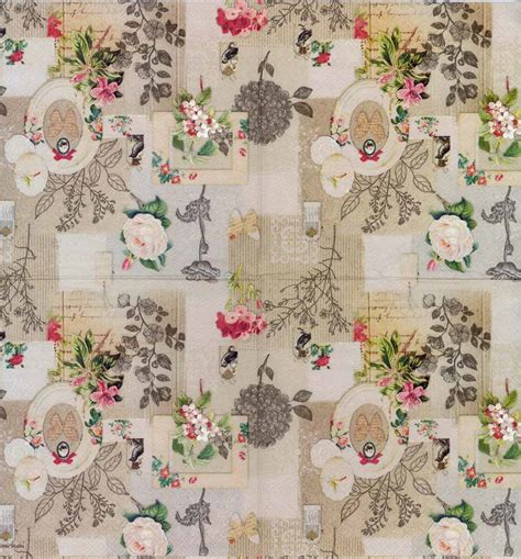 decoupage vintage decoupage paper of vintage roses birds and butterflies
