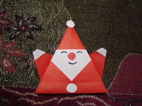 how to make a santa origami origami maniacs origami santa claus 2