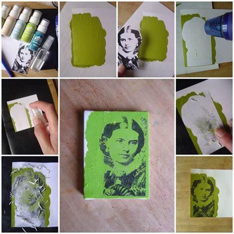 acrylic paint transfer diy photo transfer using acrylic paint
